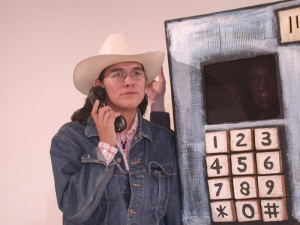 18 -  Nicole and Phone booth ( Priscillia Tait) DSCN3898
