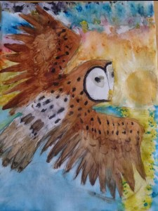 Agnes-Pedersen-painting---Owl-Colourful