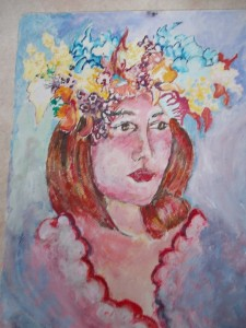 """Girl with Flowers"" by Adrienne Macallum"