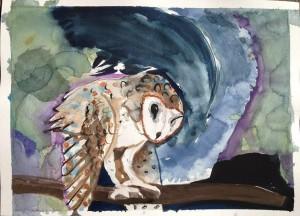 Agnes-Pedersen-painting---Owl-Painted