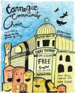 Carnegie Choir - drawing