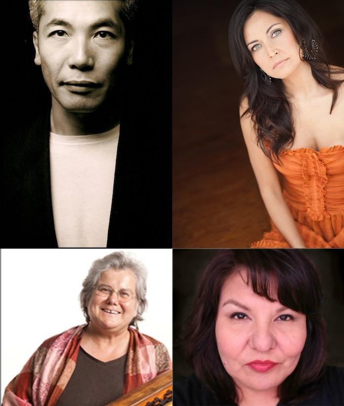 Clockwise from top left: Hiro Kanagawa, Quelemia Sparrow, Brenda Prince, Beverly Dobrinsky