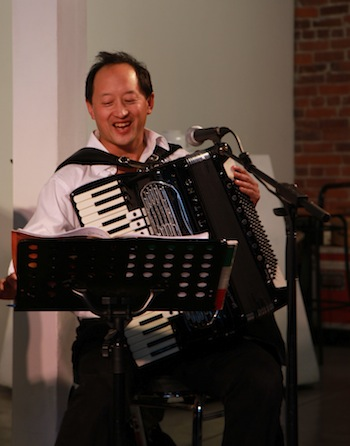 Todd Wong on accordion 2 - photo Tom Quirk